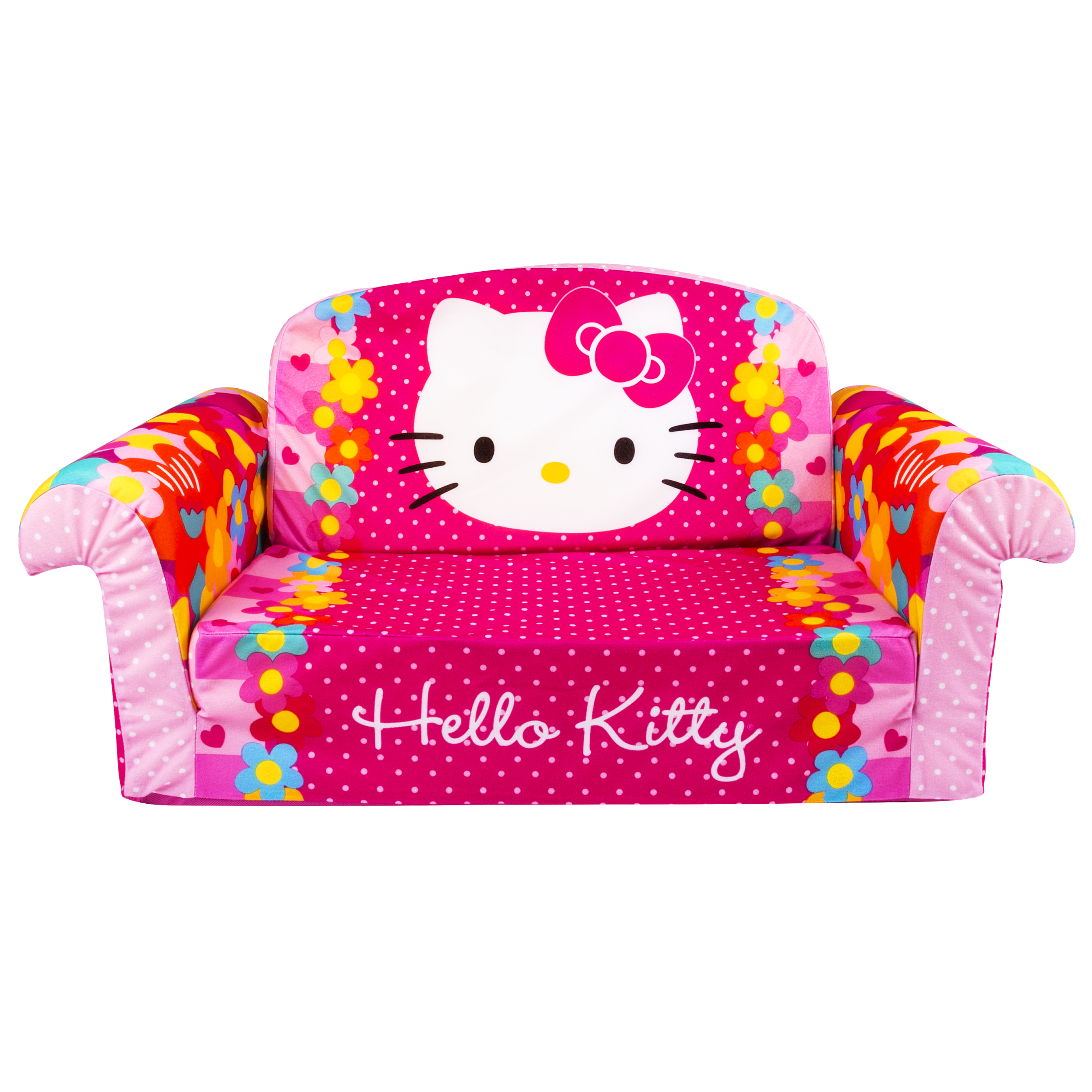 Hello Kitty, Toddler 2 in 1 Furniture Flip Open Sofa Chair