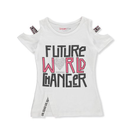 39884df91f782 Dream Star Girls' Cold Shoulder T-Shirt - Walmart.com