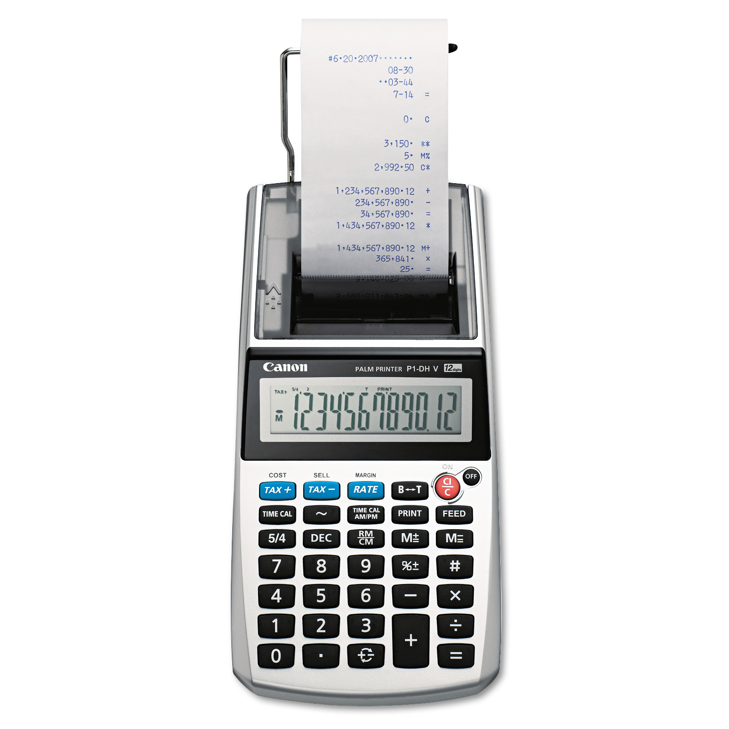 Canon P1-DHV 12-Digit Palm Printing Calculator, Purple Print, 2 Lines Sec by CANON USA, INC.