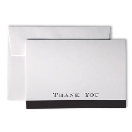 Formal Bold Striped Thank You Cards - 48 Cards & Envelopes