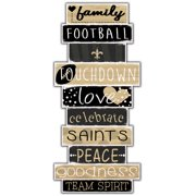 New Orleans Saints 5'' x 24'' Celebrations Stack Sign