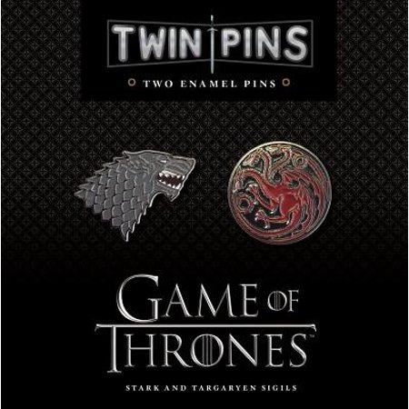 game of thrones house stark targaryen twin pin set