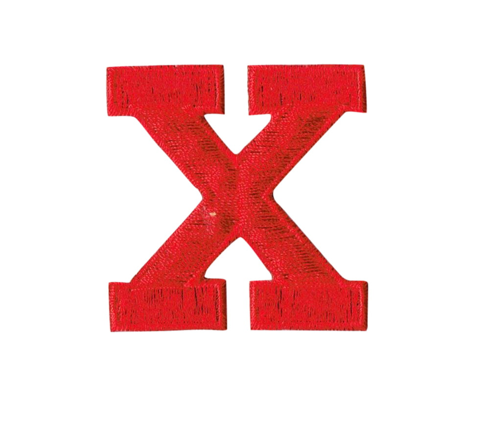Alphabet Letter X Color Red 2 U0026quot Block Style Iron On