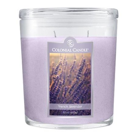 Fragranced in-line Container CC022.1342 22oz. Oval French Lavender Candles - Pack of 2