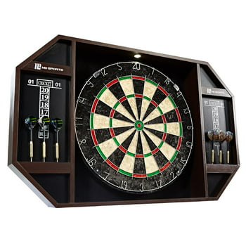MD Sports Bristle Dartboard Cabinet Set
