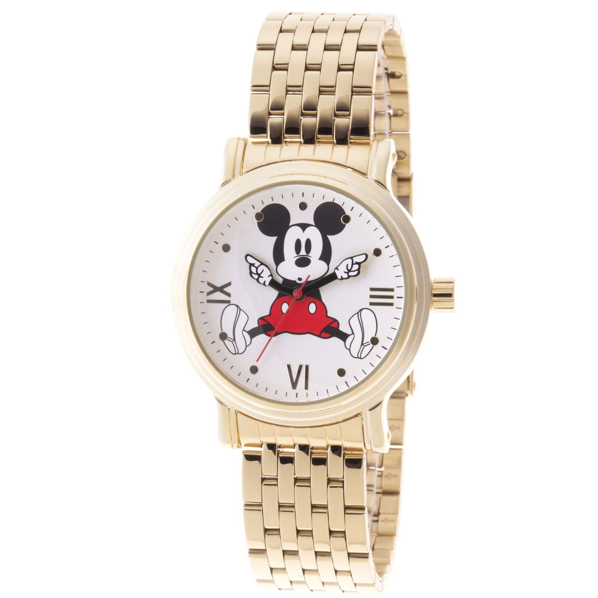 Disney Mickey Mouse Women's Gold Vintage Alloy Watch, 1-Pack