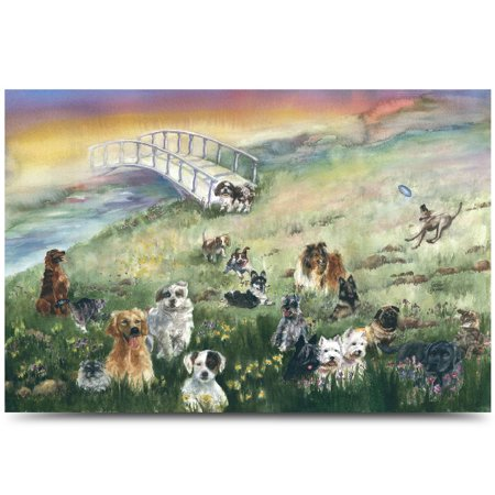 - Rainbow Bridge Pet Sympathy Card for Dog