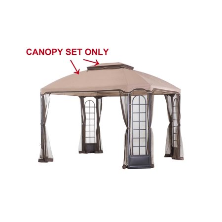 Sunjoy Replacement Canopy set for L-GZ454PST-C 10X12 Terrace Gazebo