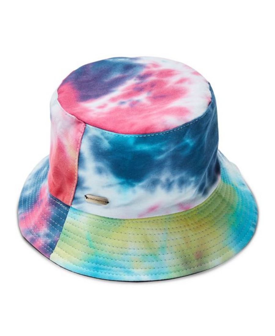 Steve Madden One Size 2 5 Inch Cotton Wide Brim Tie Dye Pattern Bucket Hat Solid Navy Walmart Canada