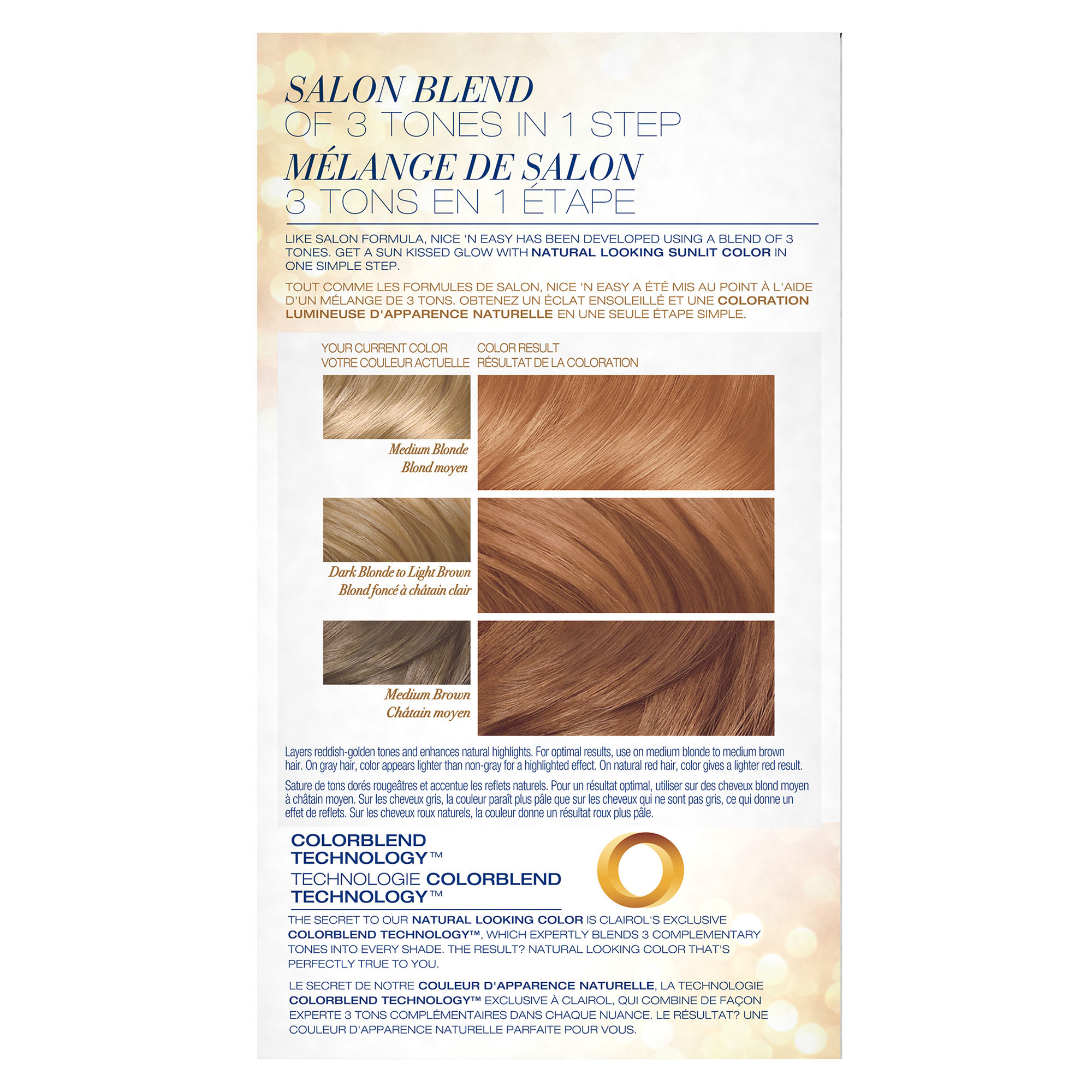 Clairol Nice N Easy Sun Kissed Permanent Hair Color 9pb Shimmering