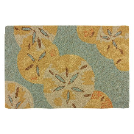 Homefires Sand Dollars By The Sea Indoor/Outdoor Accent Rug