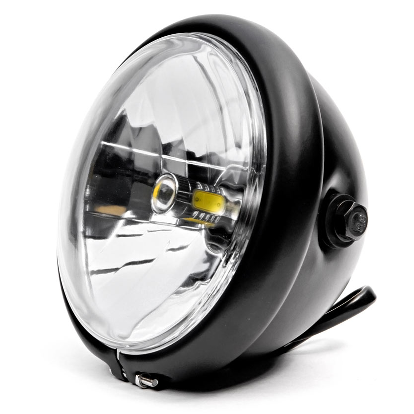 "Krator 6"" Black LED Motorcycle Headlight w/ Side Mounting Running Light High / Low Beam for Suzuki Boulevard S40 S50 S83 - image 1 de 6"