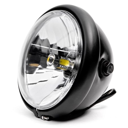 """Krator 6"""" Black LED Motorcycle Headlight w/ Side Mounting Running Light High / Low Beam for Victory Cross Country - image 1 de 6"""