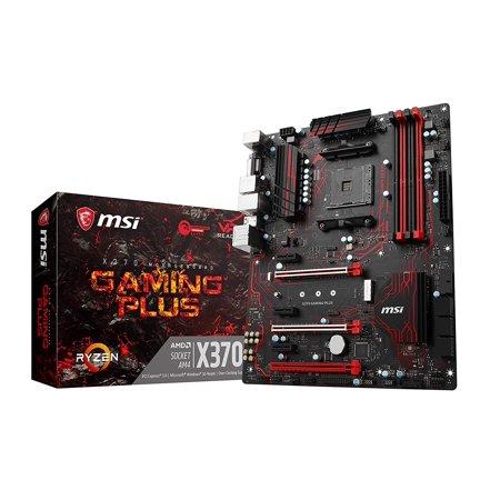MSI Gaming AMD Ryzen X370 DDR4 VR Ready HDMI USB 3 SLI CFX ATX Motherboard (X370 Gaming Plus) (Msi Z97 Motherboard Gaming 3)
