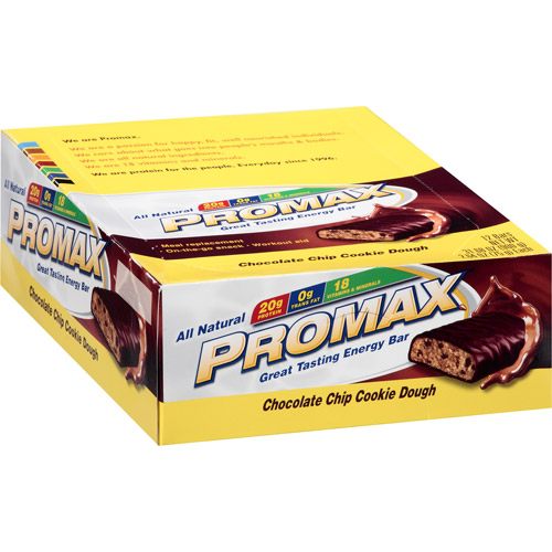 Promax Energy Bar Chocolate Chip Cookie Dough - 12 - 2.64 oz bars