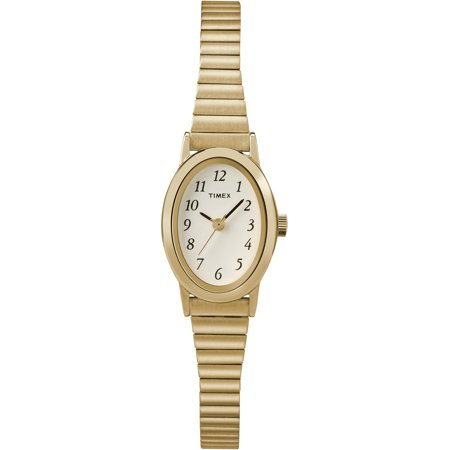 Timex Women's Cavatina Gold-Tone Stainless Steel Expansion Band Watch ()