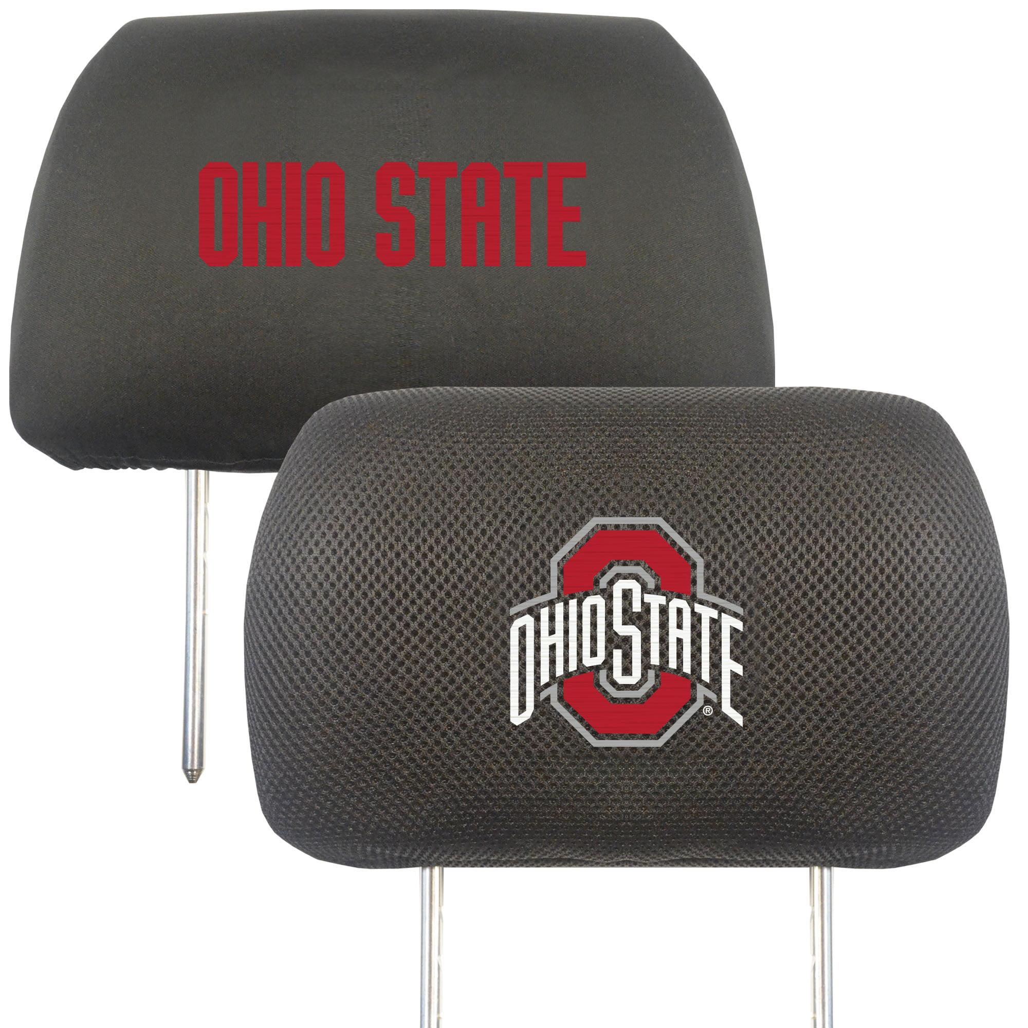 NCAA Ohio State University Buckeyes Head Rest Cover Automotive Accessory