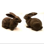 IWGAC 0170S-04669 Cast Iron Rust Bunny Rabbit Door Stop
