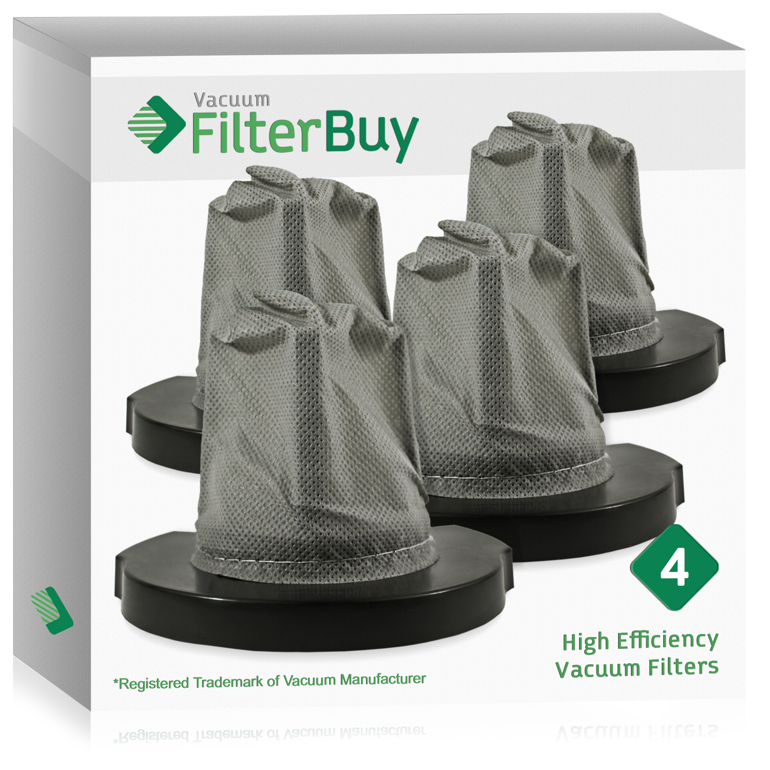 4 - FilterBuy Eureka Stick Vac Filters, Part # 60796. Designed by FilterBuy to fit Eureka 4 in 1 Stick Vac Models 160A, 92A & 166 Series Vacuum Cleaners.