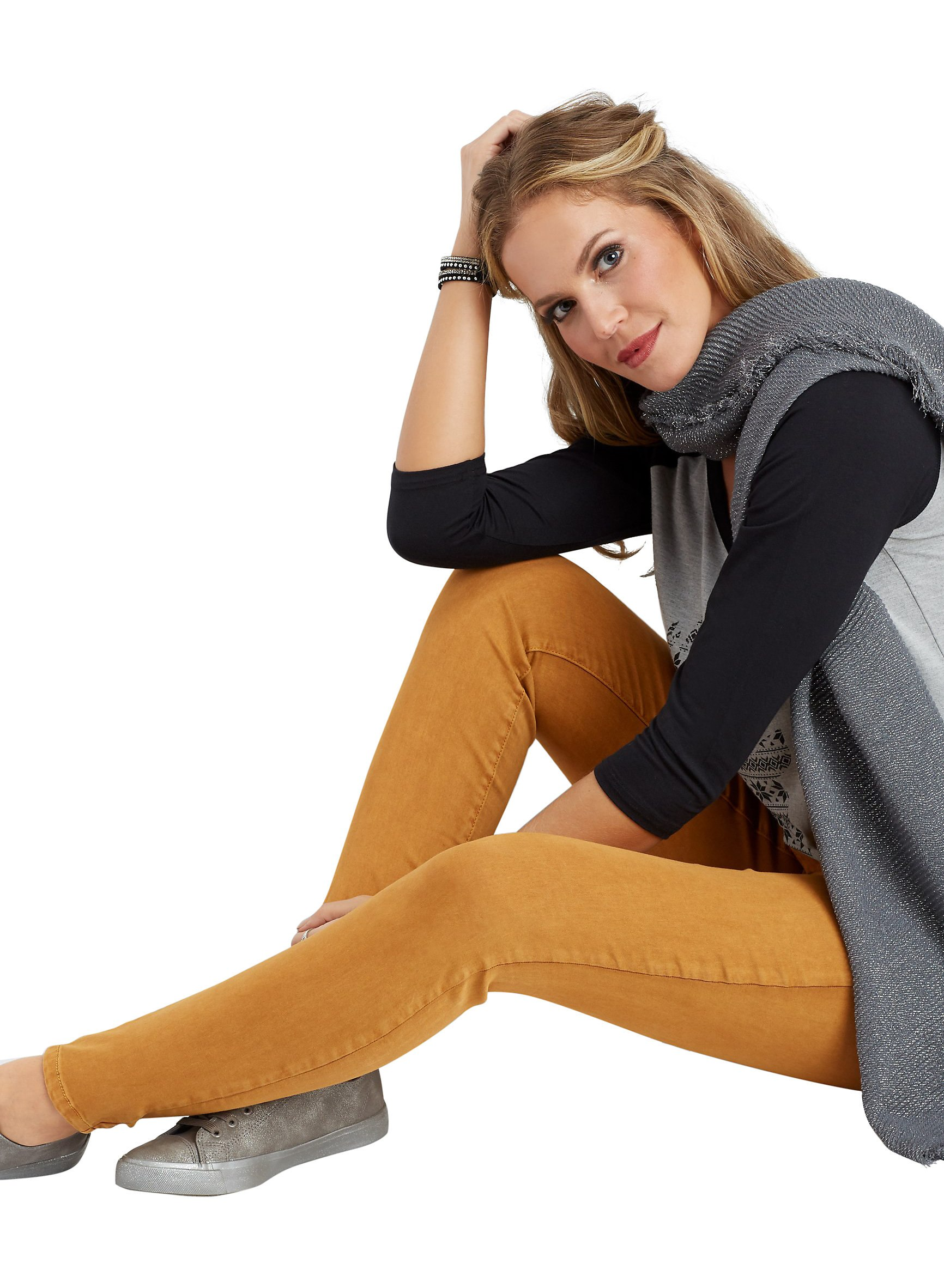 DenimFlex TM Gold Rust Color Jegging