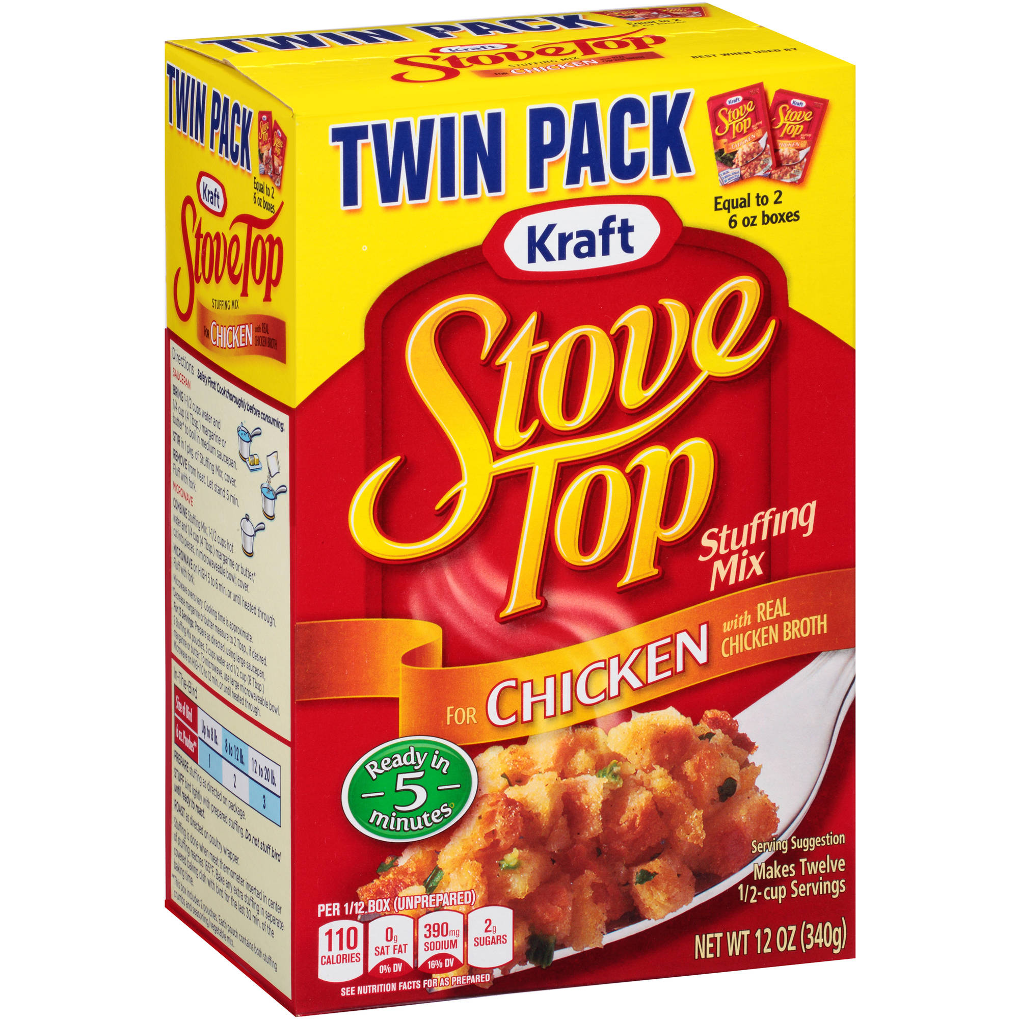 Kraft Stove Top Chicken Stuffing Mix, 12 oz