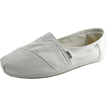 Toms Classics Men  Round Toe Canvas White Loafer