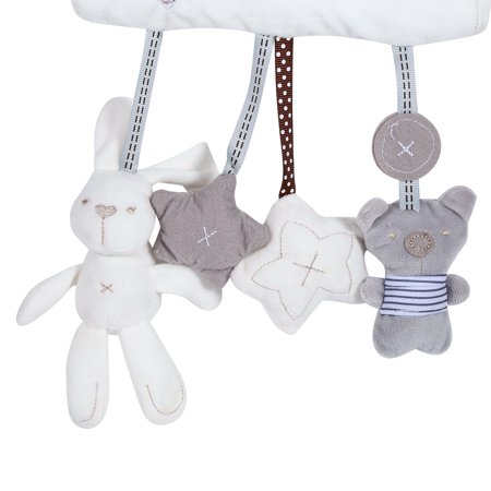 Cute Rabbit Baby Infant Stroller Toys Cot Car Safety Seat Hanging Sounding Cartoon Plush Toys , Stroller Toy, Hanging Toy