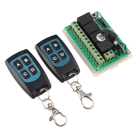 12V 4CH Channel 433Mhz Wireless Remote Control Switch With 2 (1 Channel Remote)