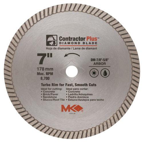 """MK Diamond 167001 7"""" Contractor Plus Diamond Blade"""