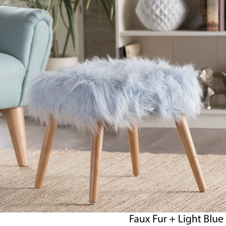 Outstanding Christopher Knight Home Huxley Faux Fur Ottoman Stool By Alphanode Cool Chair Designs And Ideas Alphanodeonline