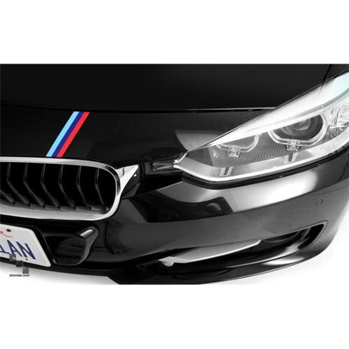 Bimmian MMSAA3YYY 0. 38 x 23 inch Mirror M-Colored Stripe Decals, For Any Vehicle - Monochrome Black Dark Grey and Light