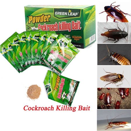 - iLH Mallroom 50pcs Effective Powder Cockroach Killing Bait Roach Killer Pesticide Insecticide