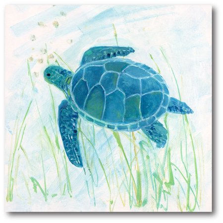 Courtside Market Reef Turtle II Gallery-Wrapped Canvas Wall Art, -