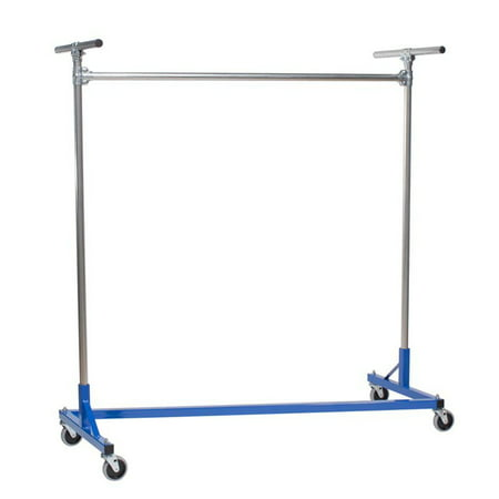 Heavy Duty Steel Z Rack 5 ft. Single Rail Garment Rack