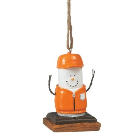 """3"""" S'mores Marshmallow in Orange Hunting Gear Chocolate Sandwich Christmas Ornament thumbnail"""