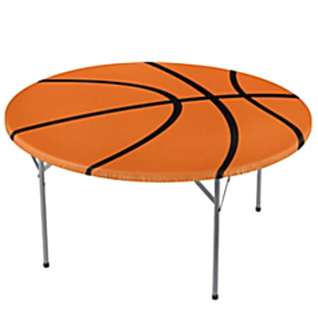 Shindigz Fitted Round Basketball Table Cover for $<!---->