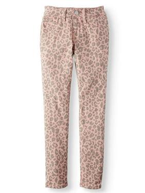 YMI Leopard Print Skinny Stretch Twill (Big Girls)