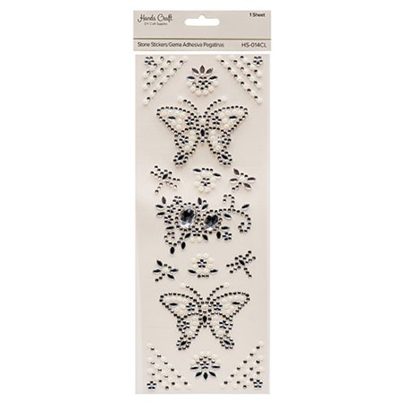 New 381308  Angels Craft Stone Sticker Butterfly Clear (12-Pack) School Supplies Cheap Wholesale Discount Bulk Stationery School Supplies Cup - Cheap Stickers