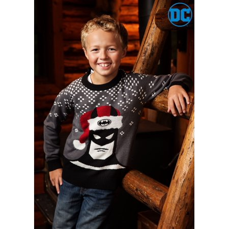 Batman Holiday Hat Kids Sweater - Batman Sweater