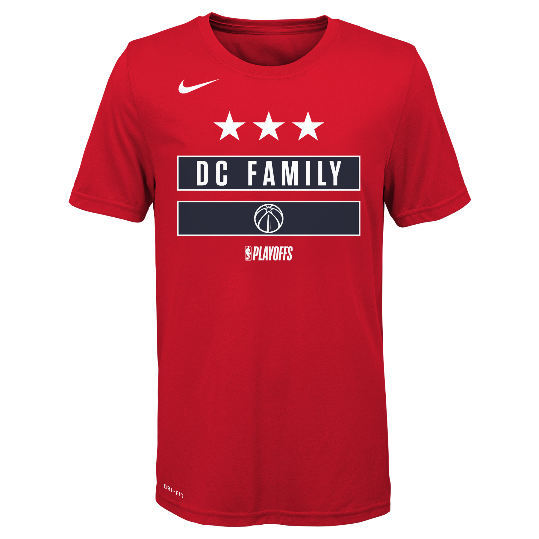 Washington Wizards Nike Youth NBA Playoffs Mantra Performance T-Shirt - Red