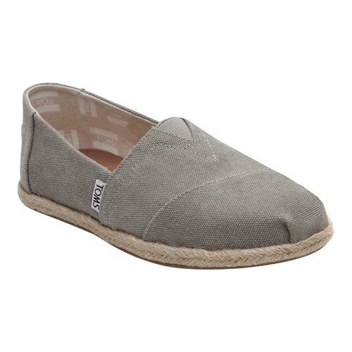 Drizzle Grey Washed Canvas Espadrilles