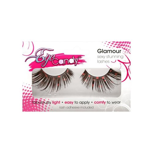 EYE CANDY EYELASHES SWAGGER - WINGED LASH WITH PINK ACCENt ONE SIZE