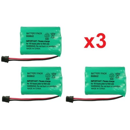 3 Fenzer Rechargeable Cordless Phone Batteries for Uniden BT-909 BT909 BT-1001 BT1001 BT-1004 BT1004 Cordless Telephone Battery Replacement Packs (Bt1004 Uniden Replacement Battery)