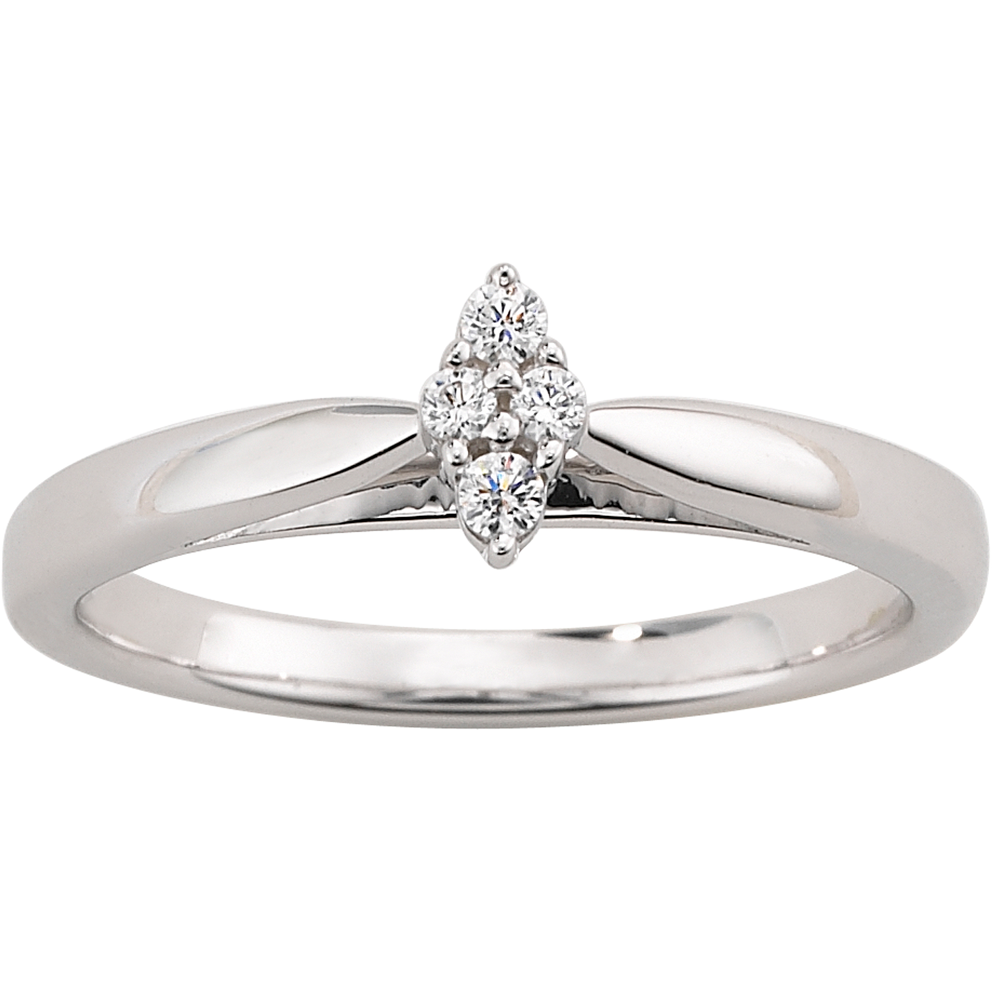 always forever platinaire diamond accent cluster marquise shaped engagement ring walmartcom - Wedding Rings From Walmart