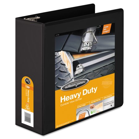 2 D-ring Presentation Binder - Wilson Jones Heavy-Duty D-Ring View Binder w/Extra-Durable Hinge, 4