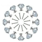 Yosoo 10 PCS 30MM Cabinet Knobs Drawer Pulls,Diamond Shape Crystal Glass Handle Kitchen Door Wardrobe Hardware