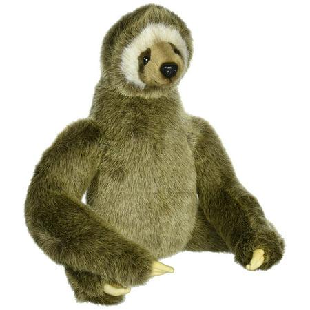 Three Toed Sloth Plush  Hansa   Three Toed Sloth Plush Toy By Hansa