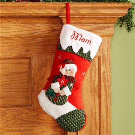 Personalized Snow Cap Christmas Stocking, Mrs. Santa