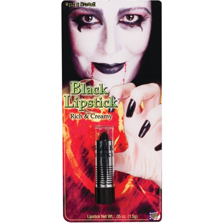 Black Lipstick Adult Halloween Accessory - Black Lips Halloween Mix