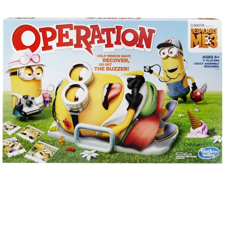 Despicable me 3 edition operation family board game, ages 6 and up - Minion Rush Halloween Game